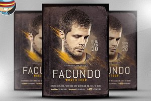 Facundo DJ Flyer Template