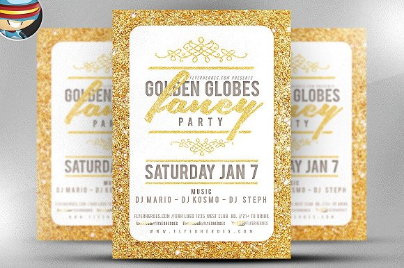 Golden Globe Fancy Flyer Template V2
