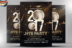 NYE Party Flyer Template 2017 V2