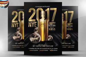 NYE Party Flyer Template 2017