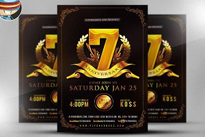 Business Anniversary Flyer Template