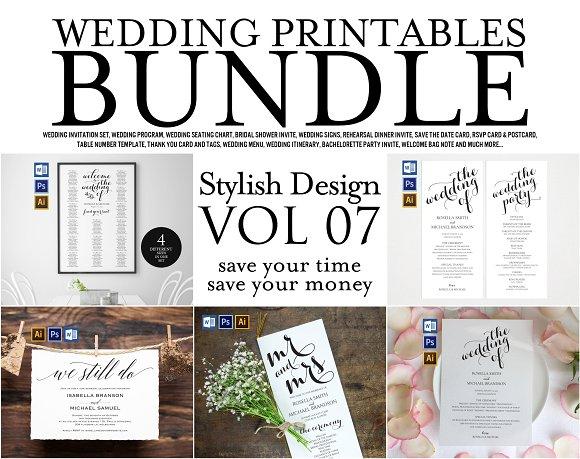 Wedding Printables Bundle Style 7