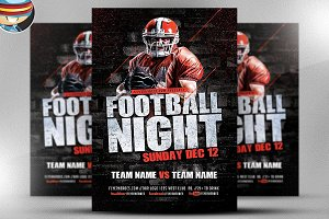 Football Night Flyer Template