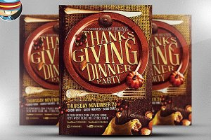Thanksgiving Dinner Party Flyer