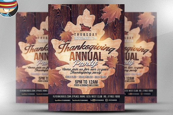 Wooden Thanksgiving Annual Party