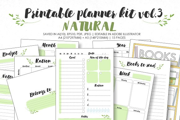 Planner kit vol.3 - natural
