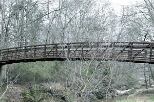 Bridge Over Creek -Nature Photograph