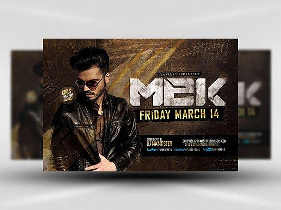 Mek Bar Flyer Template Creative Daddy