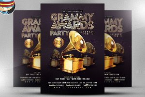 Grammy Awards Party Flyer Template