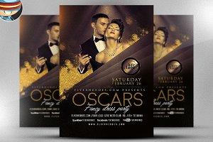 Oscars Fancy Dress Party Flyer 2