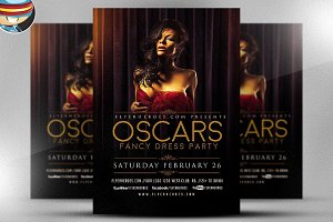 Oscars Fancy Dress Party Flyer