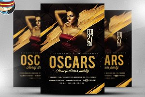 Oscars Fancy Dress Party Flyer 4