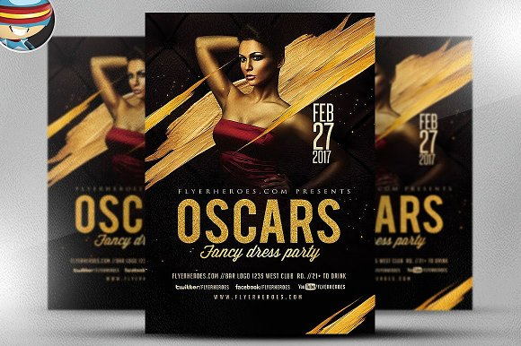 oscars fancy dress party flyer 4 flyer templates creative daddy