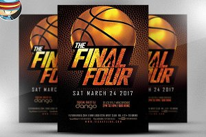 The Final Four Basketball Flyer