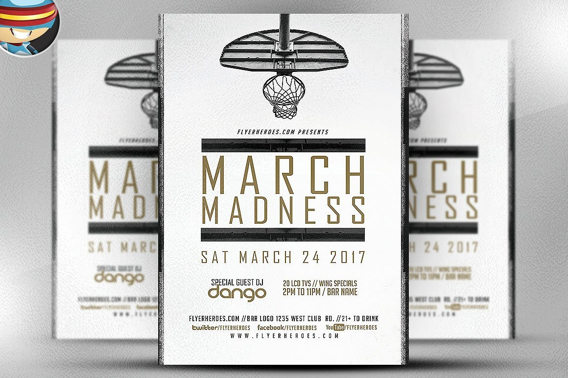 March Madness Basketball v2 ~ Flyer Templates ~ Creative Market