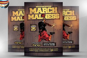 March Madness Basketball Flyer v1