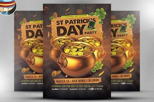 St. Patrick's Day Gold Party Flyer