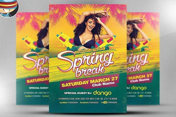 Spring Break 2017 Flyer Template