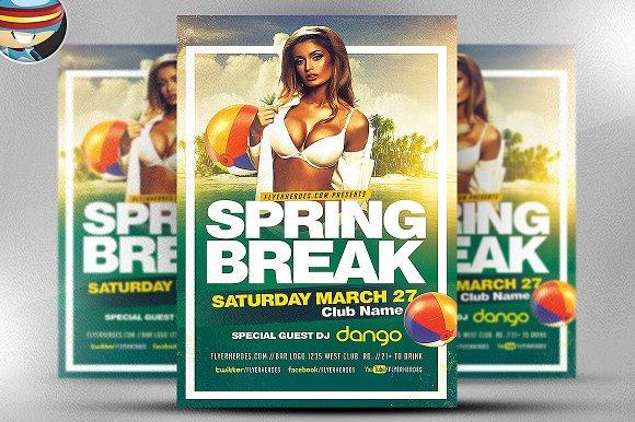 Spring Break 2017 Flyer Template 2