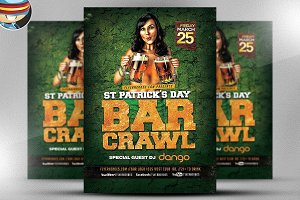 St. Patrick's Day Bar Crawl Flyer