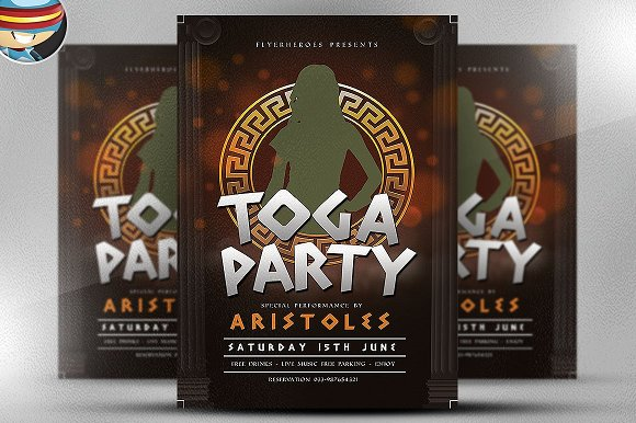 greek toga flyer template v2 flyer templates creative market