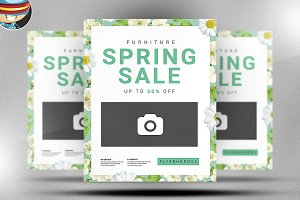 Spring Furniture Sale Flyer Template