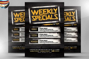 Weekly Specials Flyer Template