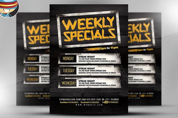 weekly specials flyer template flyer templates creative daddy