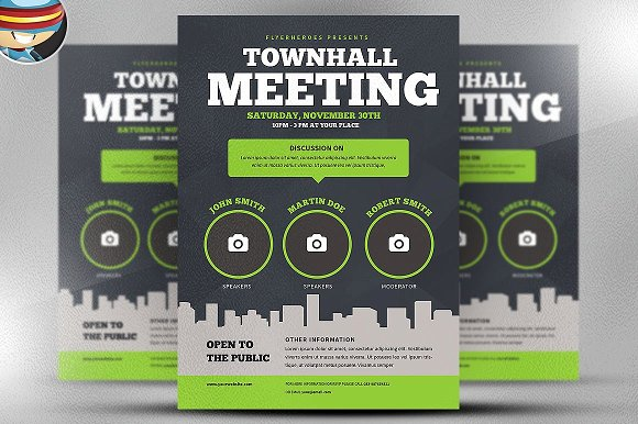 Community Meeting Flyer Template Creative Daddy
