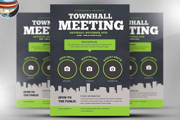 Community meeting flyer template flyer templates creative market community meeting flyer template flyers maxwellsz
