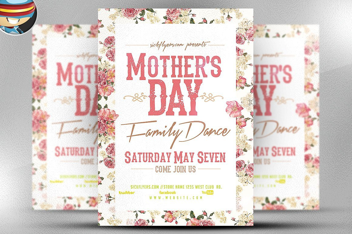 Mother\'s Day Family Flyer Template ~ Flyer Templates ~ Creative Market