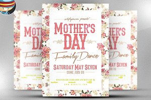 Mother's Day Family  Flyer Template