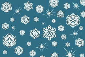 snowflakes, wrapping paper, Christma