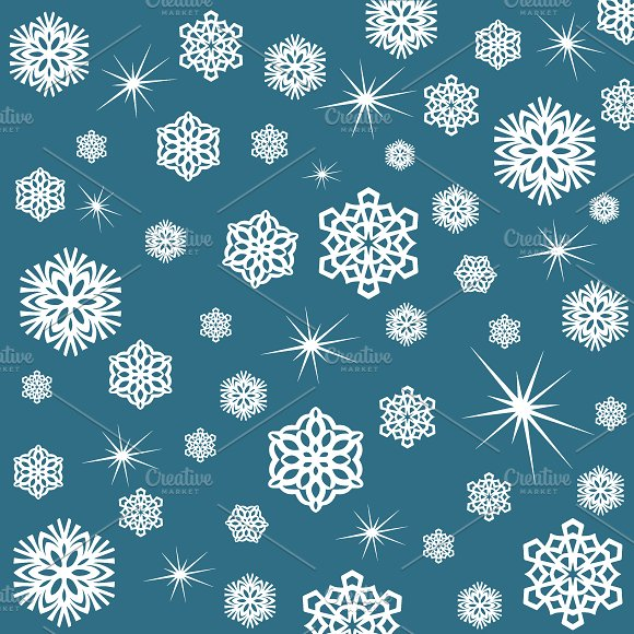 Snowflakes Wrapping Paper Christma