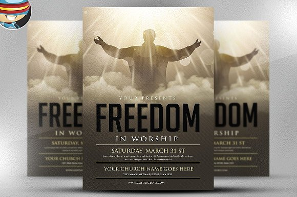 Freedom Church Meet Flyer Template