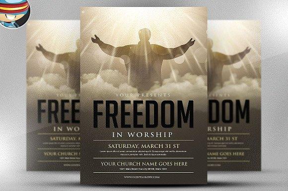Freedom Church Meet Flyer Template
