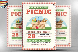 School Out Picnic Flyer Template