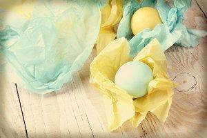 Instagram Tissue Wrapped Easter Eggs