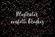 Illustrator confetti brushes