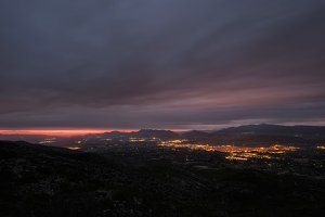 Ontinyent City at Sunrise