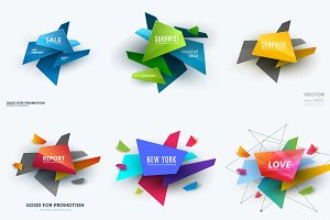 Abstract vector design elements for graphic template. Creative modern business background with colourful shapes