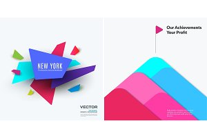 Abstract vector design elements for graphic layout. Creative modern colourful business background template for holiday