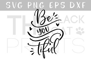 Be you tiful SVG DXF PNG EPS