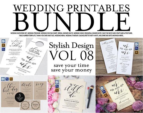 Wedding Printables Bundle Style 8