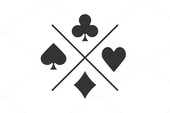 Suits Of Playing Cards Glyph Icon
