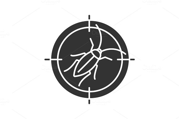 Cockroach Target Glyph Icon
