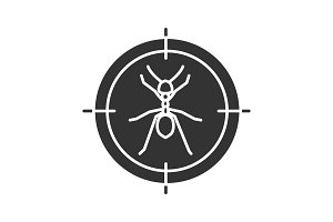 Ants target glyph icon