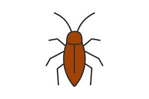 Cockroach color icon