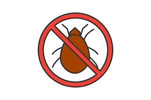 Stop mites sign color icon