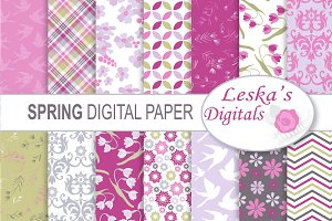 Spring Digital Scrapbook Paper
